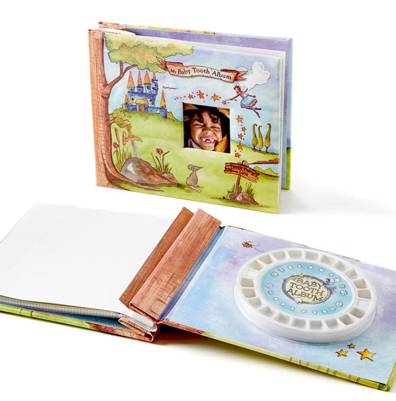 How to scrapbook baby book -  Baby Tooth Scrapbook Blue 26316