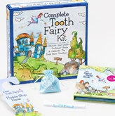 Complete Tooth Fairy Kit--Fairyland Collection-Blue-12/carton Baby Tooth Album, baby tooth, tooth fairy, fairyland, baby teeth, loose baby tooth, tooth fairy, keepsake, keepsake box, tooth fairy keepsake box, toothless smile