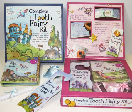 Complete Tooth Fairy Kit-New! Gifts, Tooth Fairy, Keepsakes, Tooth Fairies, Losing Baby Teeth,Gift Collection,Tooth Fairy Kit,Baby Tooth Album